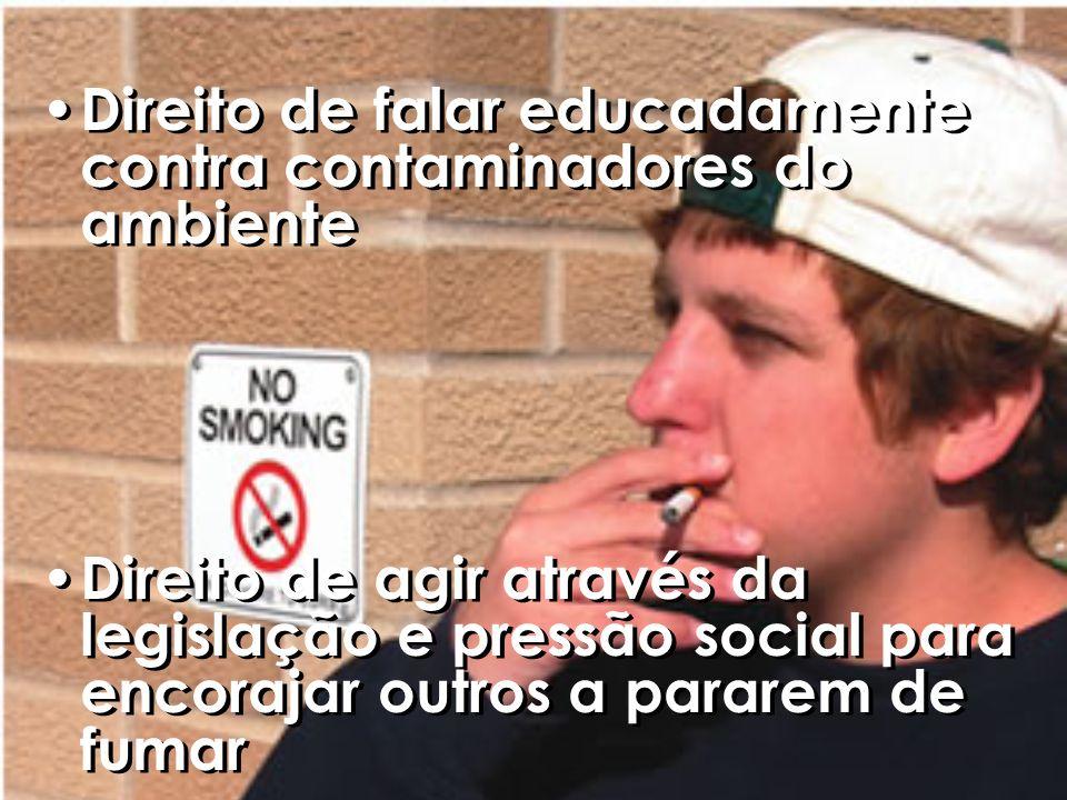 Direito de falar educadamente contra contaminadores do ambiente