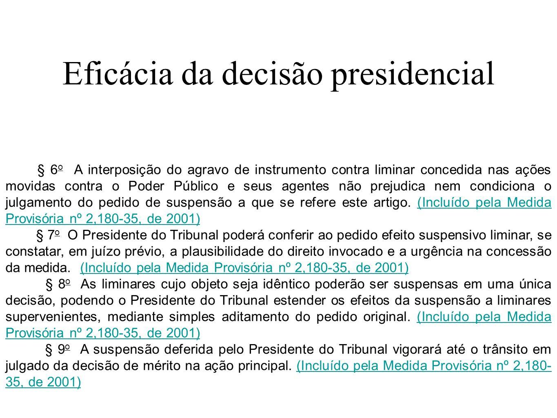 Eficácia da decisão presidencial