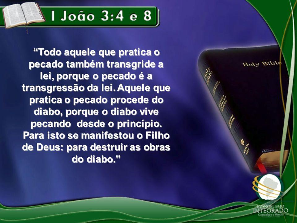 Todo aquele que pratica o pecado também transgride a lei, porque o pecado é a transgressão da lei.