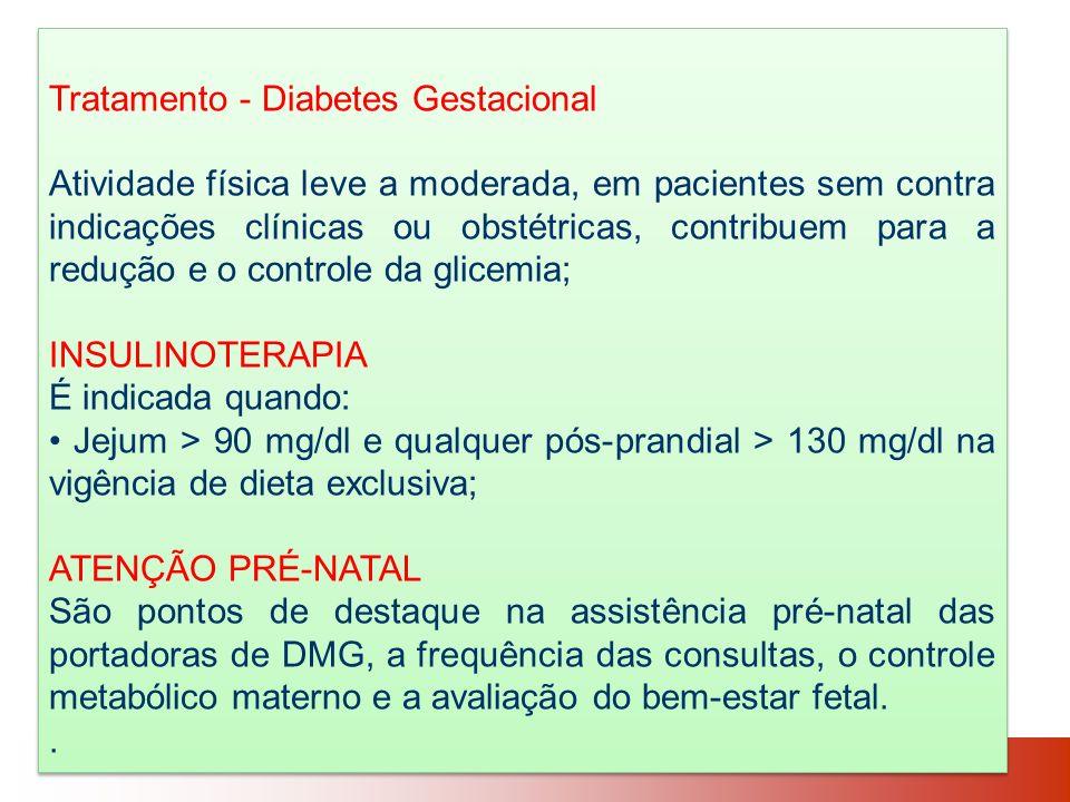 Tratamento - Diabetes Gestacional