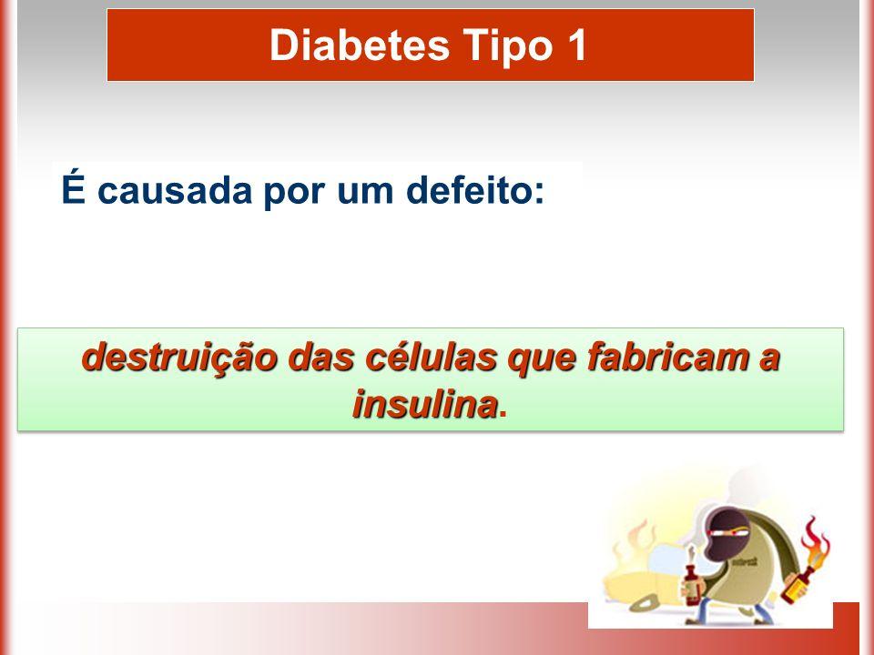 destruição das células que fabricam a insulina.
