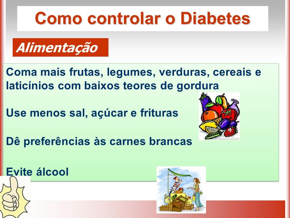 Como controlar o Diabetes