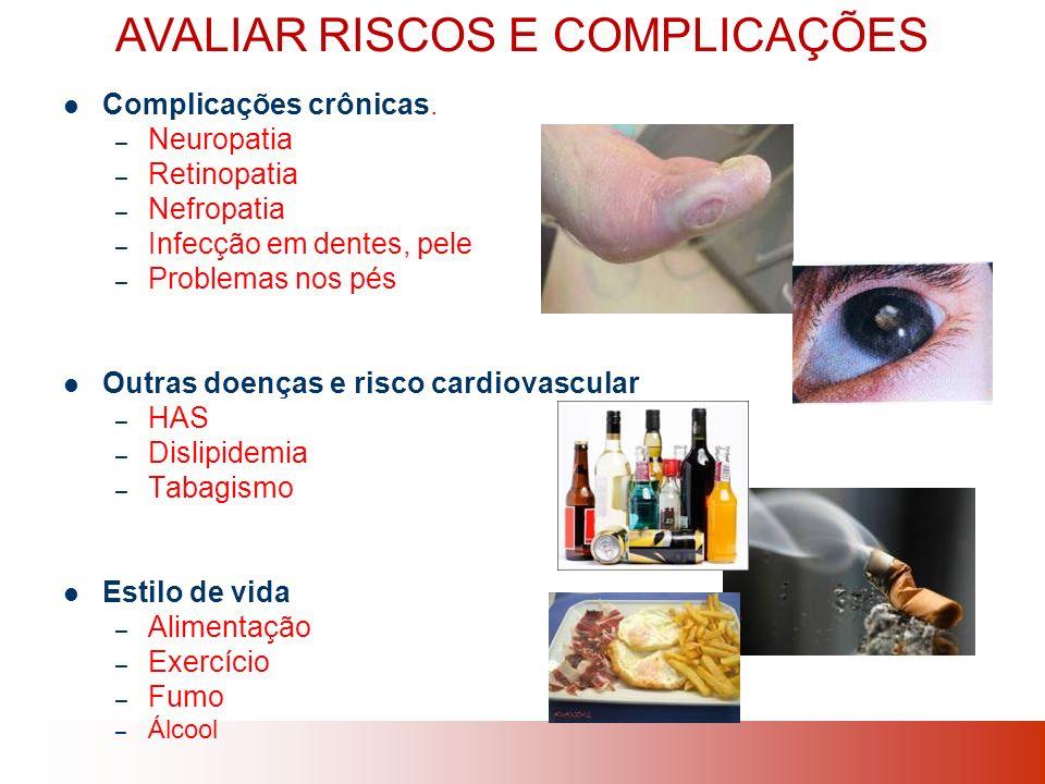 AVALIAR RISCOS E COMPLICAÇÕES