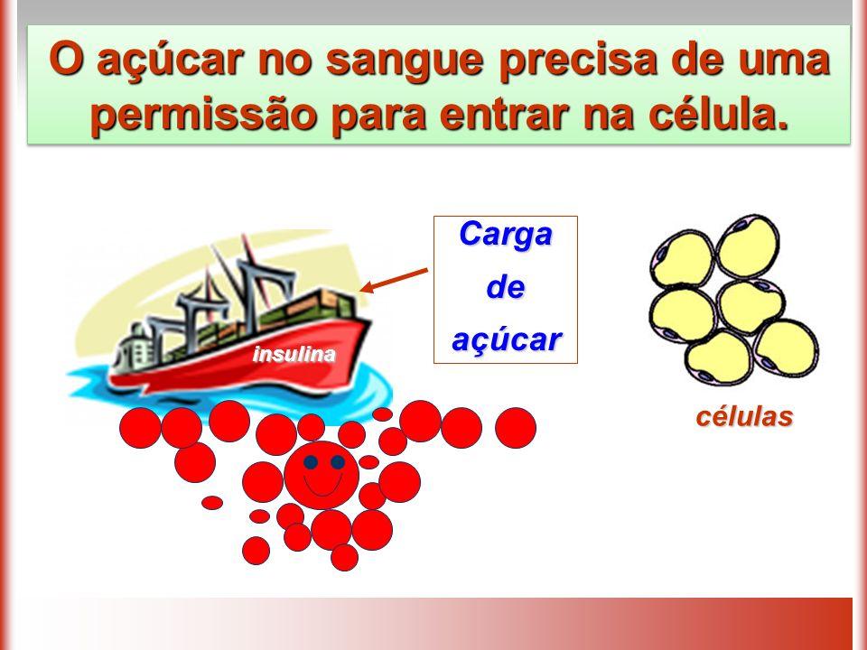 O açúcar no sangue precisa de uma permissão para entrar na célula.