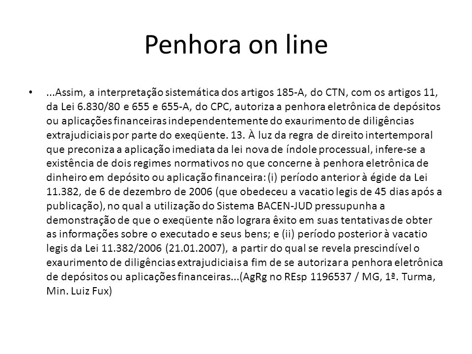 Penhora on line