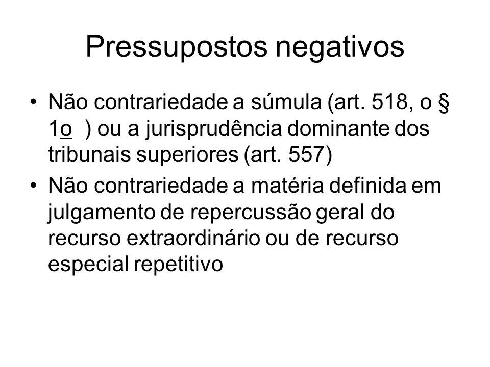 Pressupostos negativos