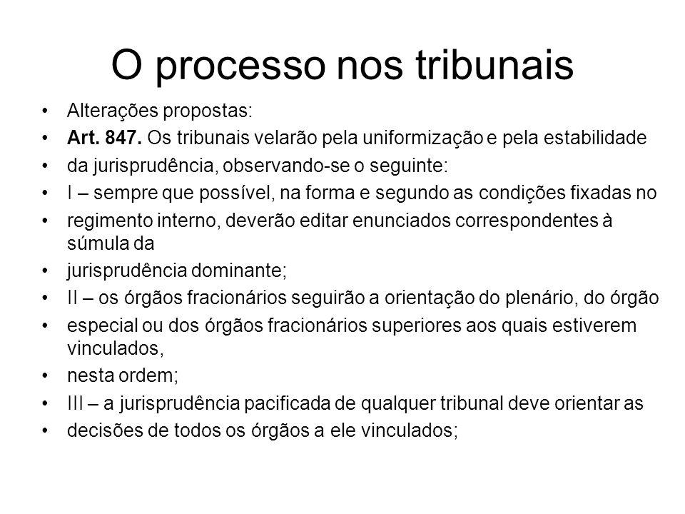 O processo nos tribunais