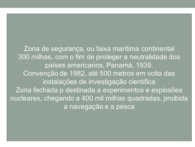 Zona de segurança, ou faixa marítima continental
