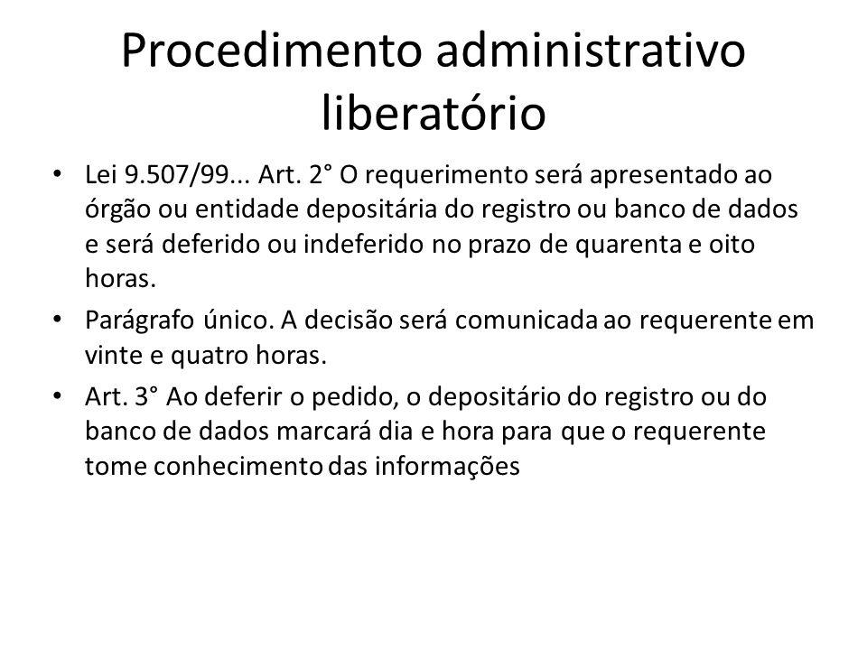 Procedimento administrativo liberatório