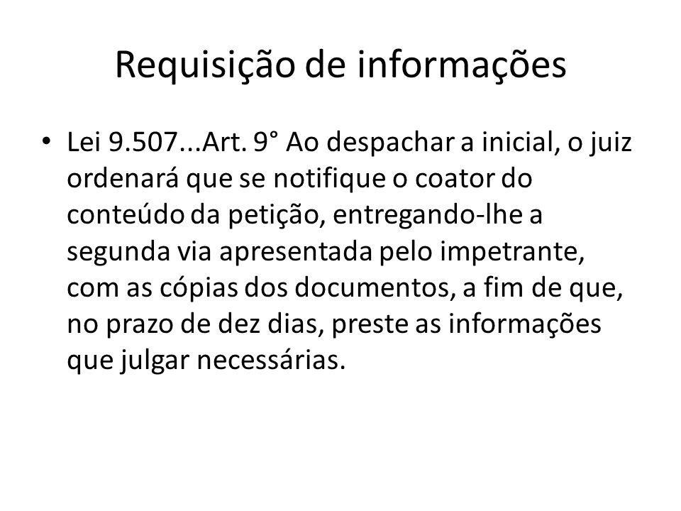 Requisição de informações