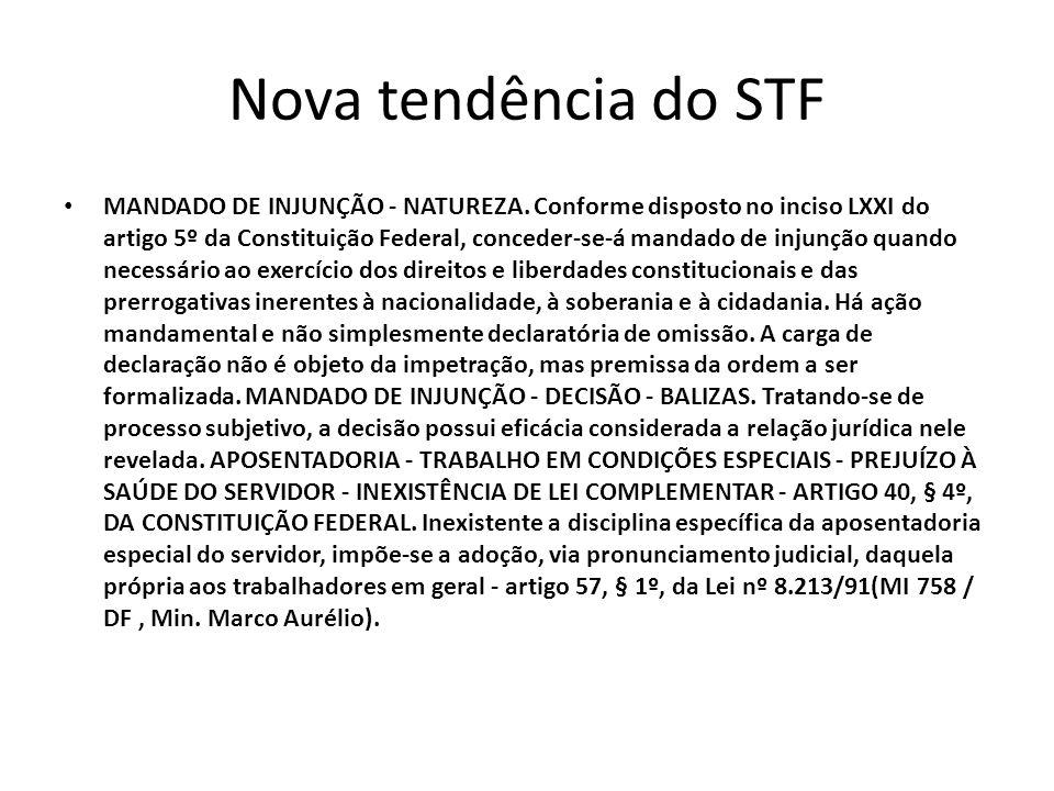 Nova tendência do STF