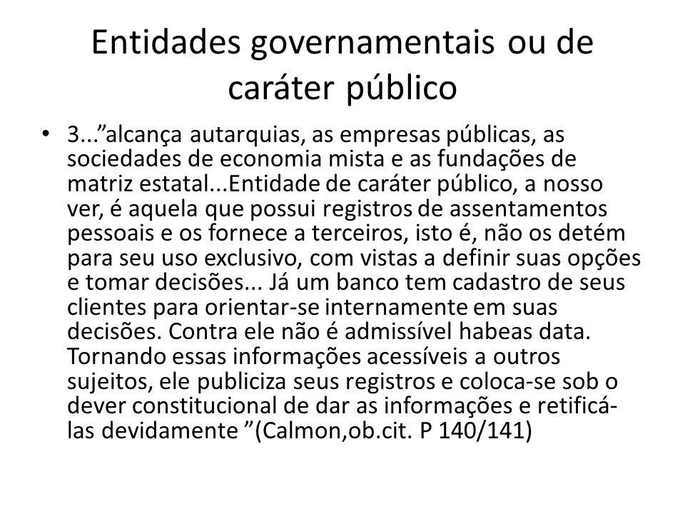 Entidades governamentais ou de caráter público