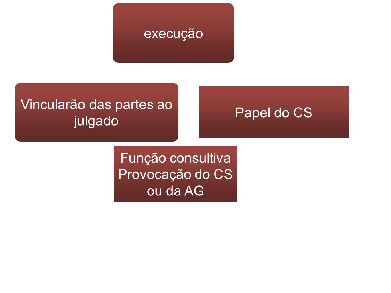 Vincularão das partes ao julgado Papel do CS