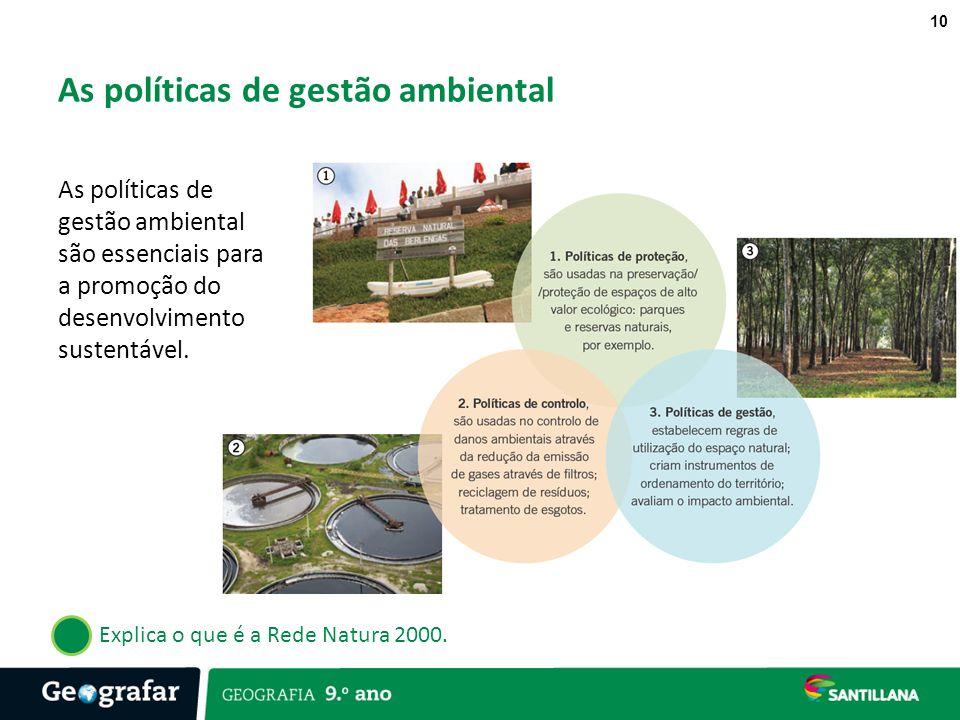 As políticas de gestão ambiental