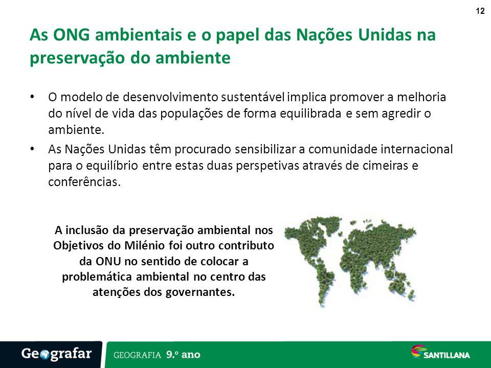 As ONG ambientais e o papel das Nações Unidas na preservação do ambiente