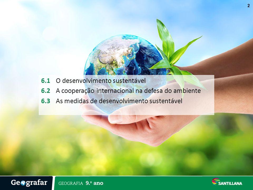 6. 1 O desenvolvimento sustentável 6