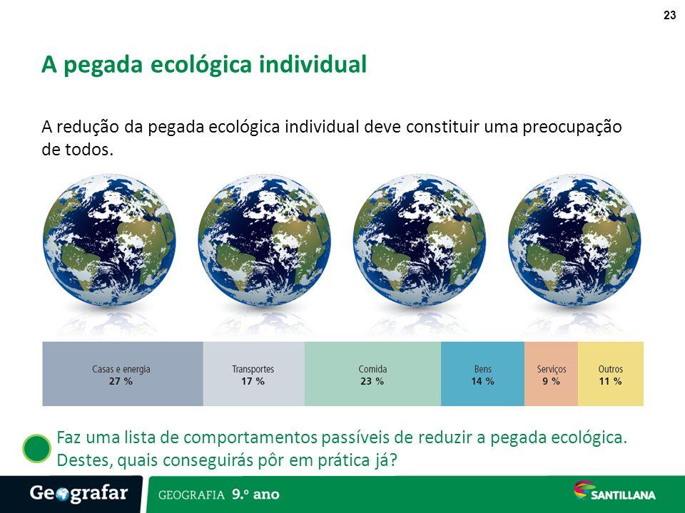 A pegada ecológica individual