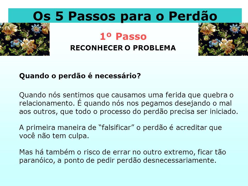 1º Passo RECONHECER O PROBLEMA