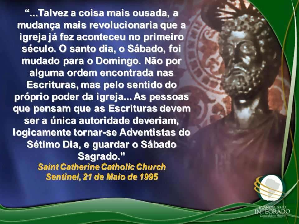 Saint Catherine Catholic Church Sentinel, 21 de Maio de 1995