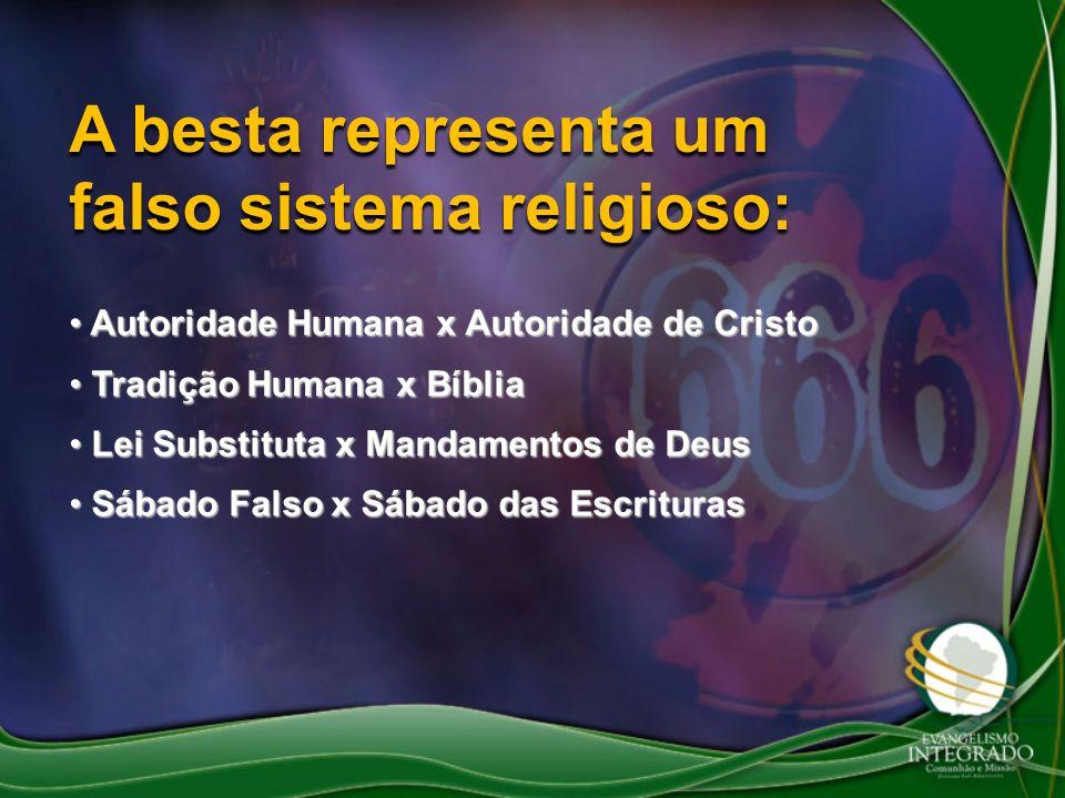 A besta representa um falso sistema religioso: