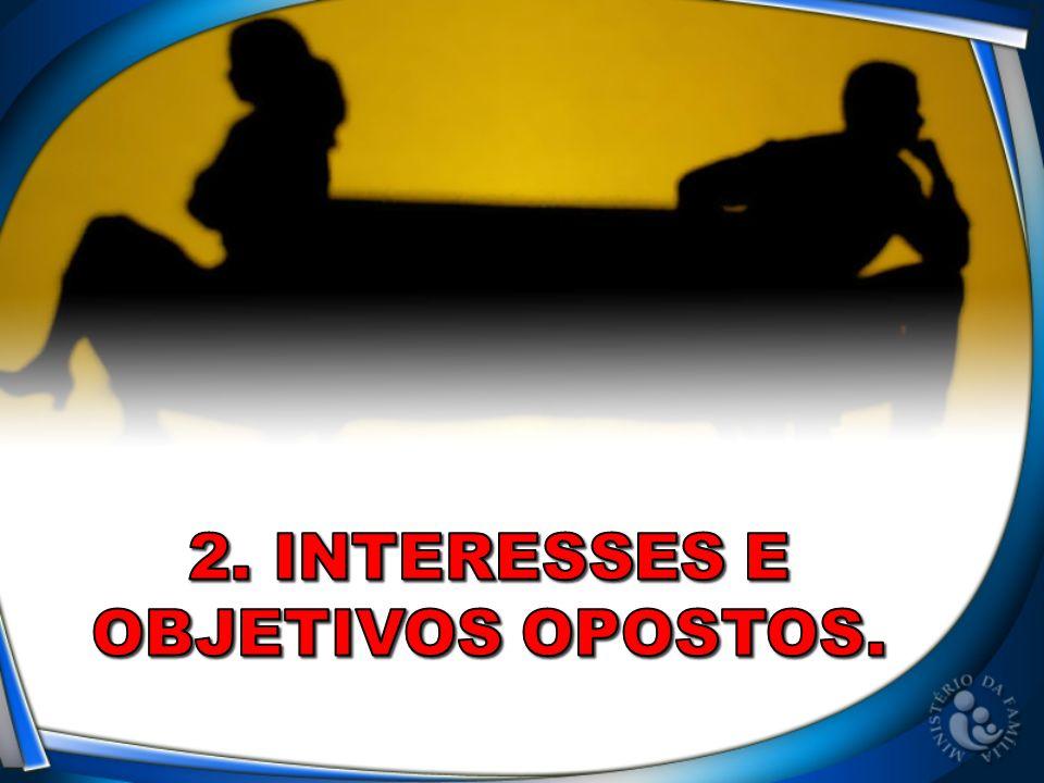 2. Interesses e Objetivos opostos.
