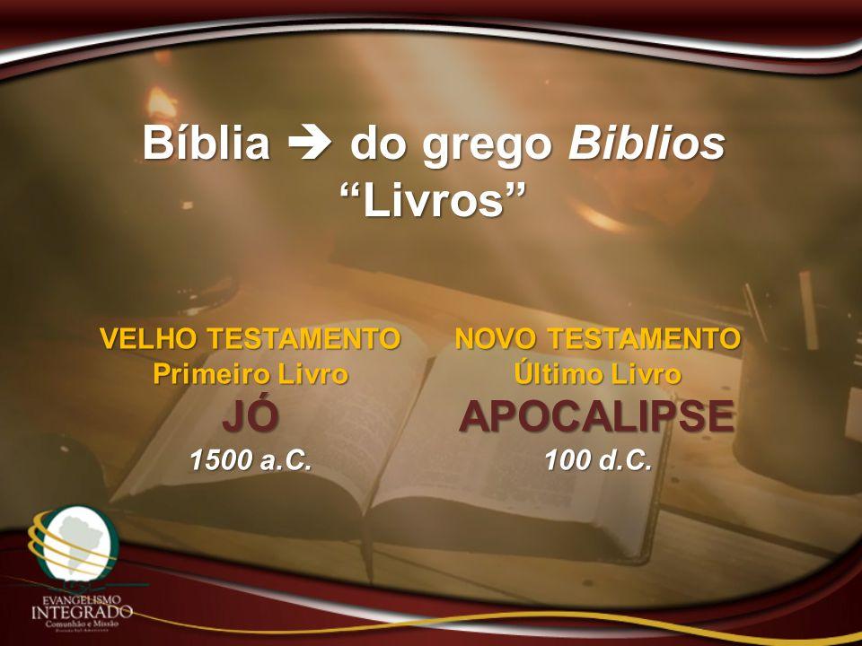 Bíblia  do grego Biblios Livros Último Livro APOCALIPSE