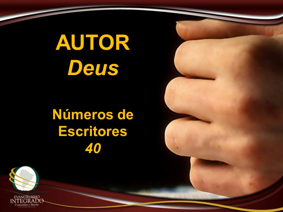 AUTOR Deus Números de Escritores 40
