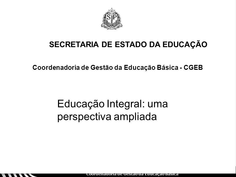 Educação Integral: uma perspectiva ampliada
