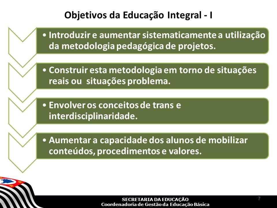 Objetivos da Educação Integral - I