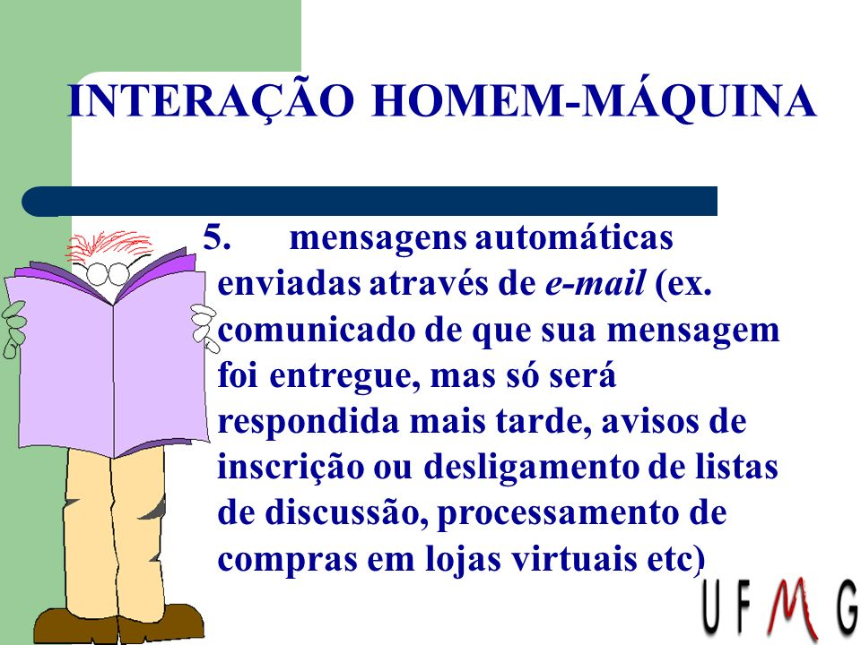 INTERAÇÃO HOMEM-MÁQUINA