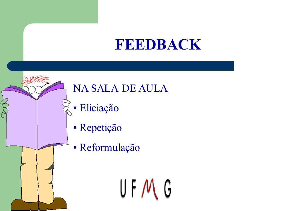 FEEDBACK NA SALA DE AULA Eliciação Repetição Reformulação
