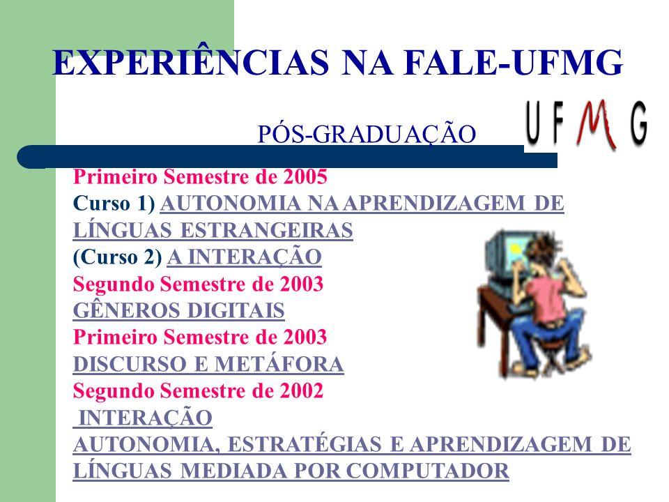 EXPERIÊNCIAS NA FALE-UFMG