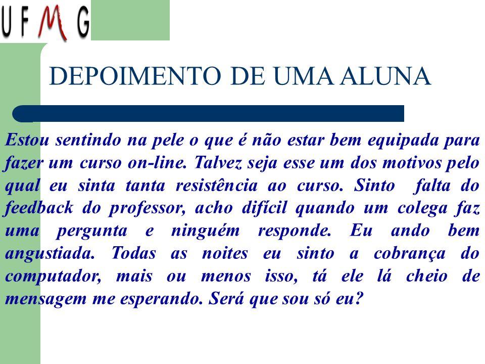 DEPOIMENTO DE UMA ALUNA