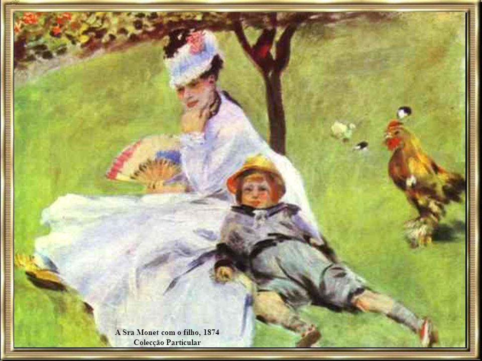 A Sra Monet com o filho, 1874 Colecção Particular