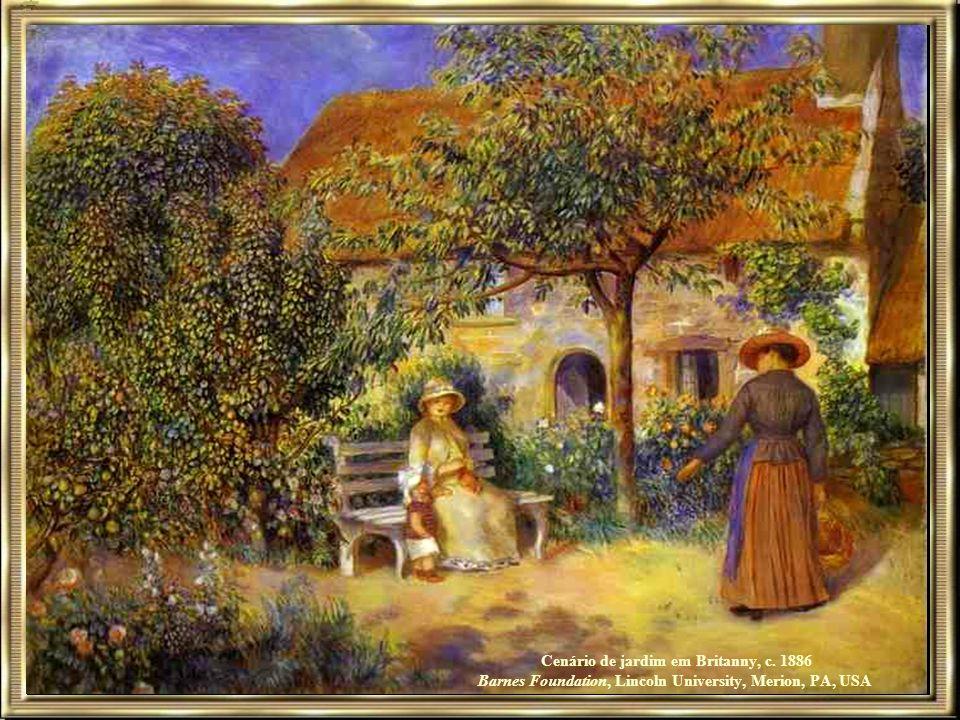 Cenário de jardim em Britanny, c