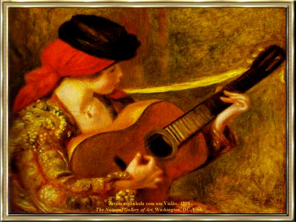 Jovem espanhola com um Violão, 1898 The National Gallery of Art, Washington, DC, USA