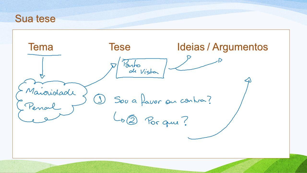 Tema tese e argumento