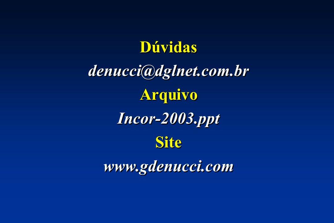 Dúvidas denucci@dglnet.com.br Arquivo Incor-2003.ppt Site www.gdenucci.com