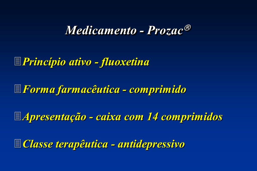 Medicamento - Prozac Princípio ativo - fluoxetina