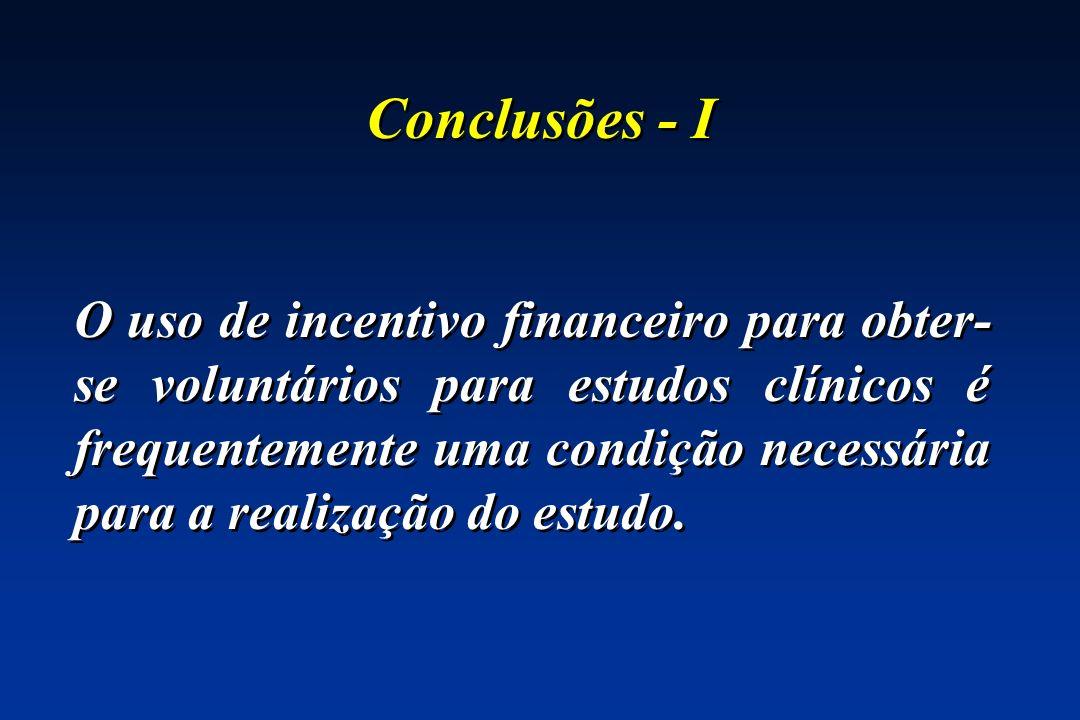 Conclusões - I