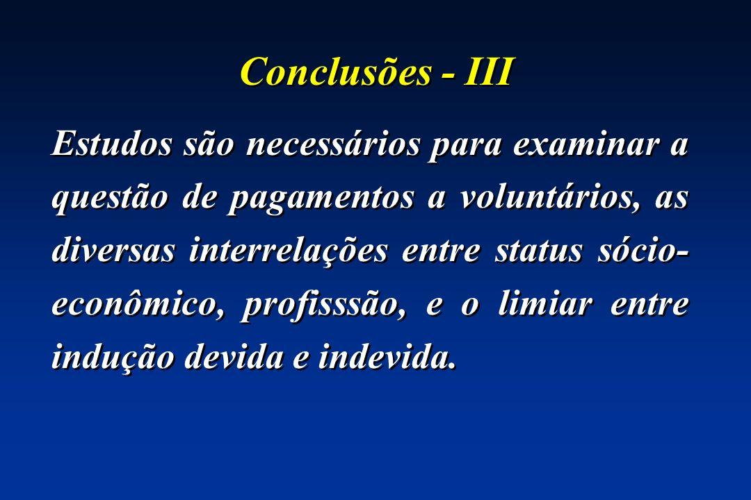 Conclusões - III