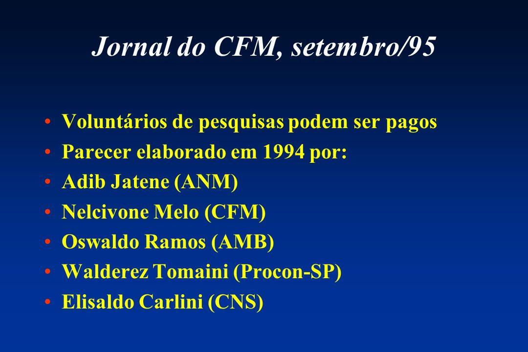 Jornal do CFM, setembro/95