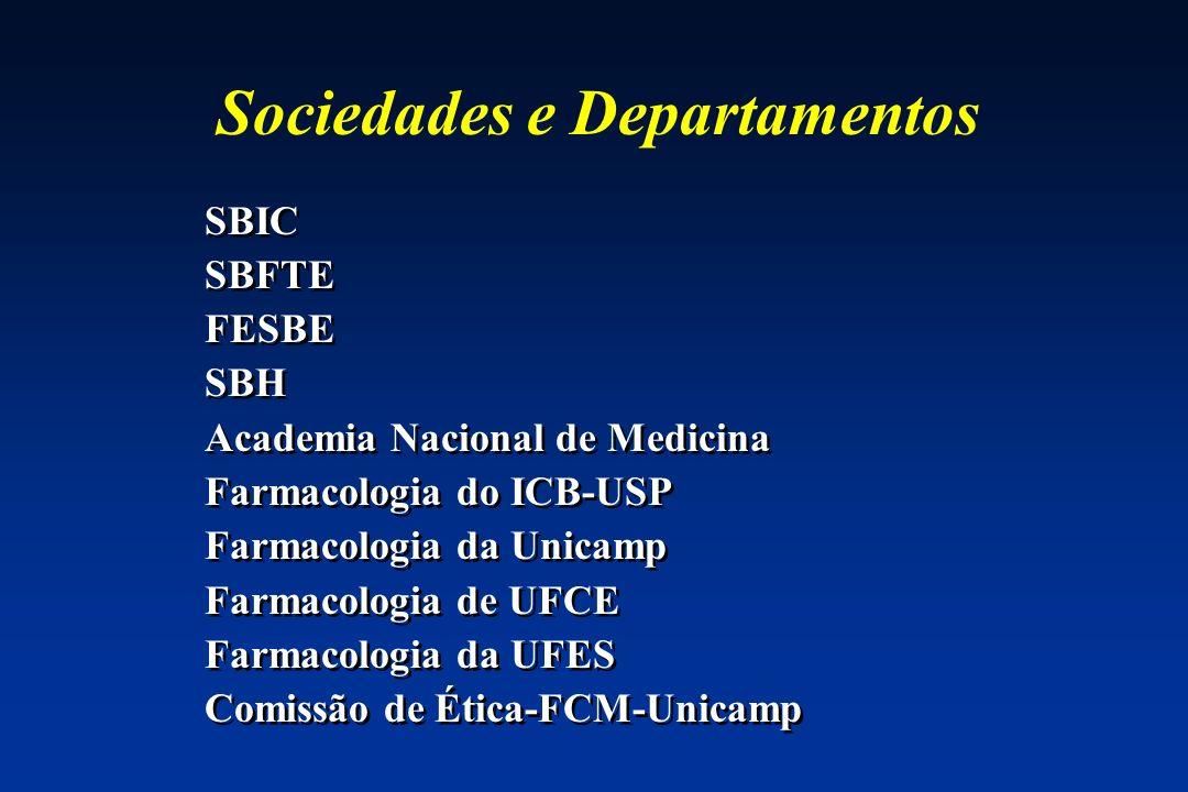 Sociedades e Departamentos