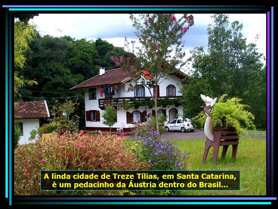 A linda cidade de Treze Tílias, em Santa Catarina, é um pedacinho da Áustria dentro do Brasil…