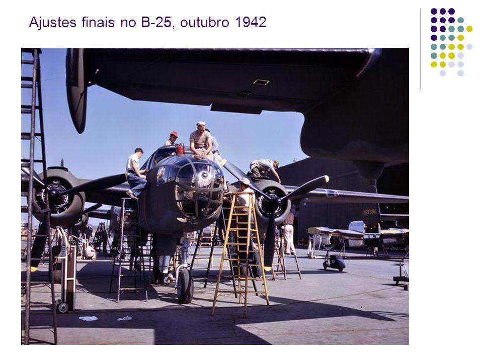 Ajustes finais no B-25, outubro 1942