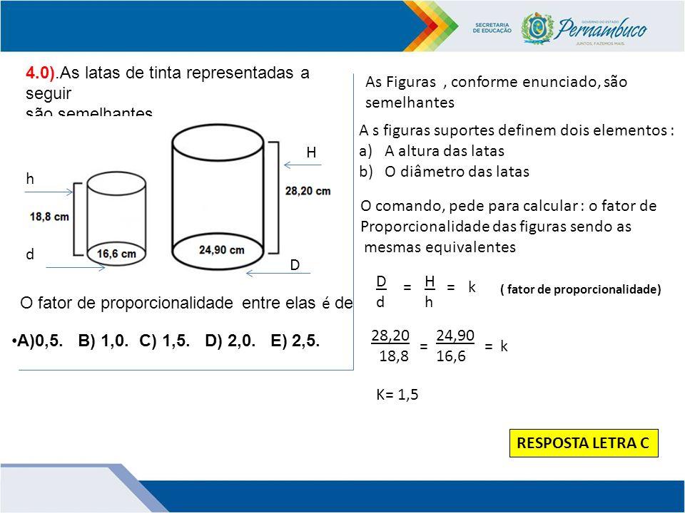 4.0).As latas de tinta representadas a seguir são semelhantes.