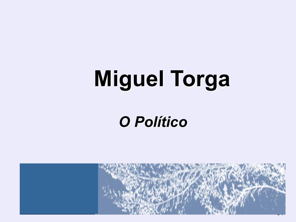 Miguel Torga O Político