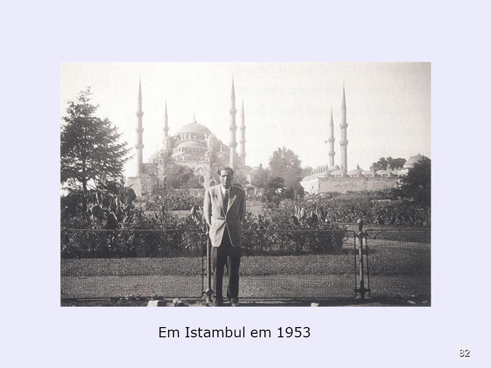 Em Istambul em 1953