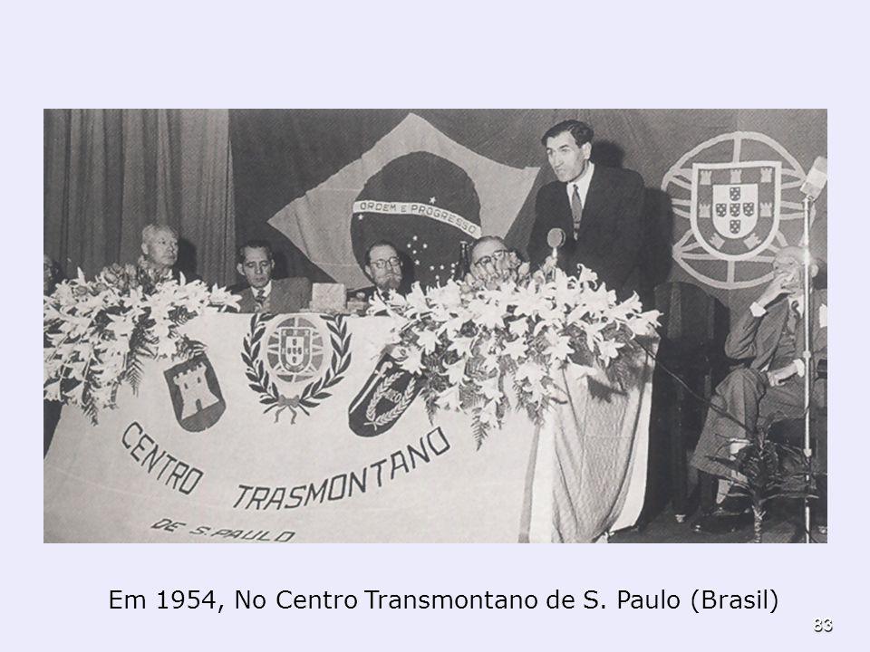 Em 1954, No Centro Transmontano de S. Paulo (Brasil)