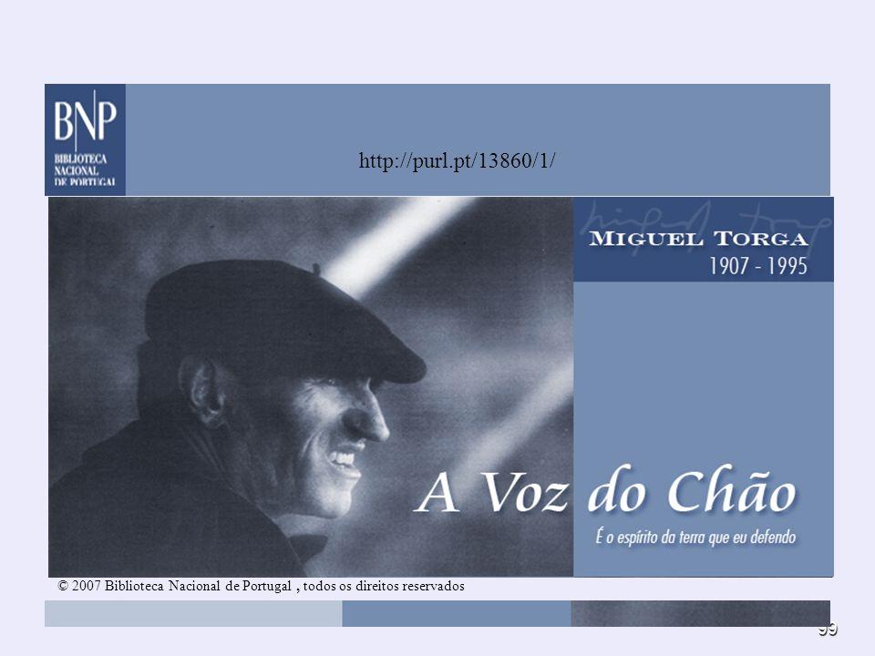© 2007 Biblioteca Nacional de Portugal , todos os direitos reservados